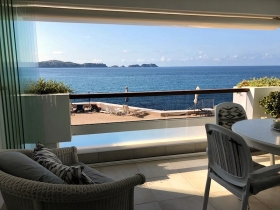 Rented! Wonderful apartment with sea views in Cala Fornells