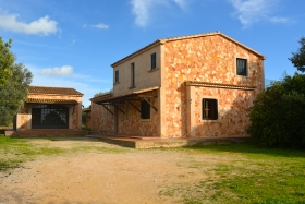 Rented! Natural stone finca with lot of space for family and office.
